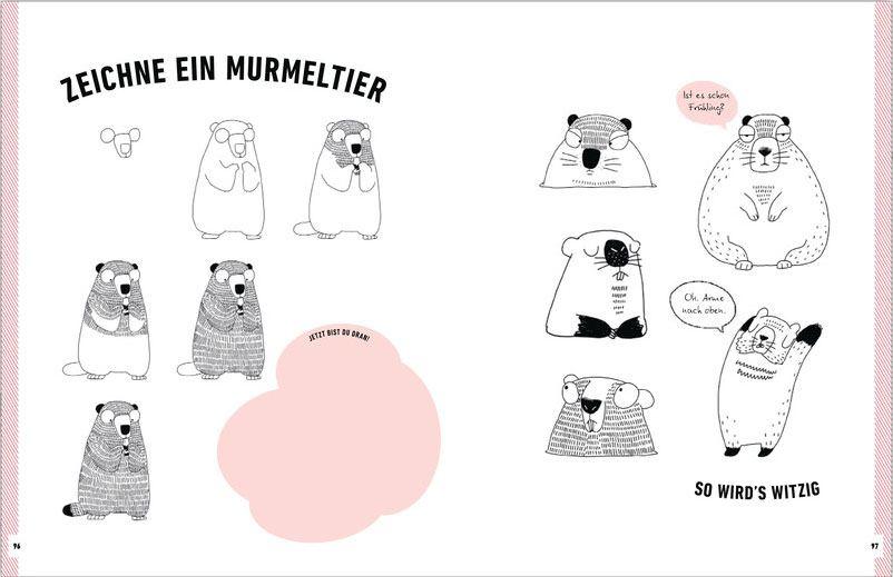 Witzige Tiere zeichnen