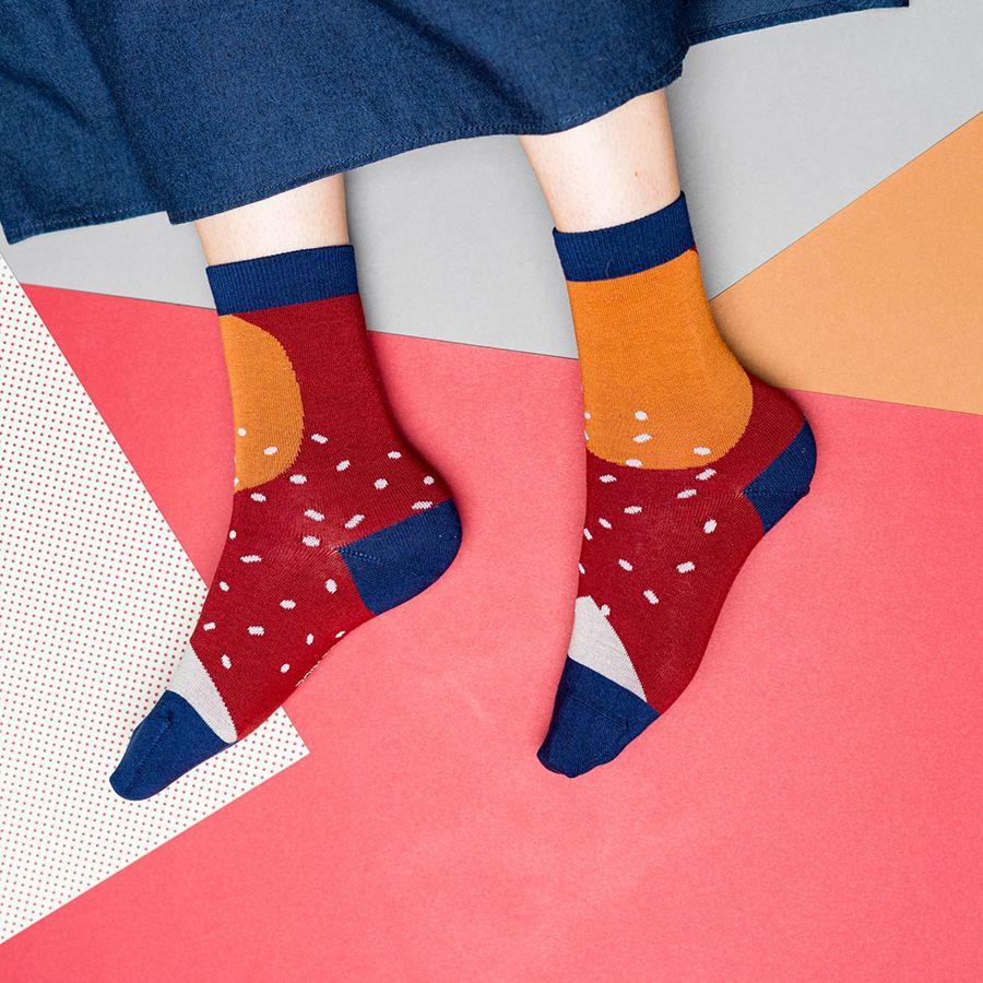 Nice Socks Shapes Bordeaux
