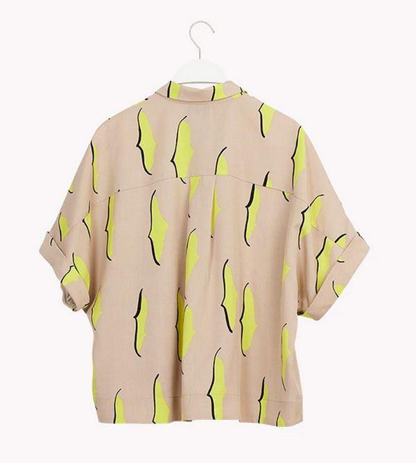 Boho Shirt Silent Grey Lemon Black
