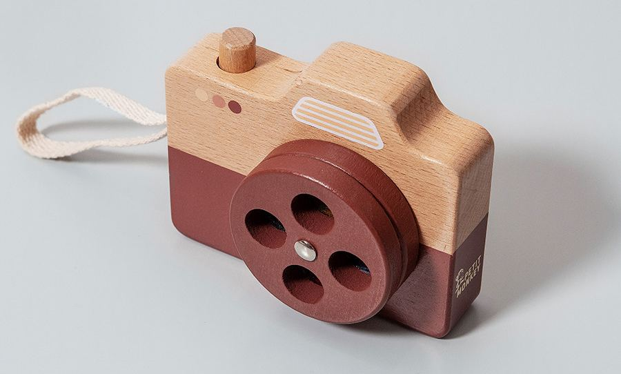 Holz-Kamera Braun