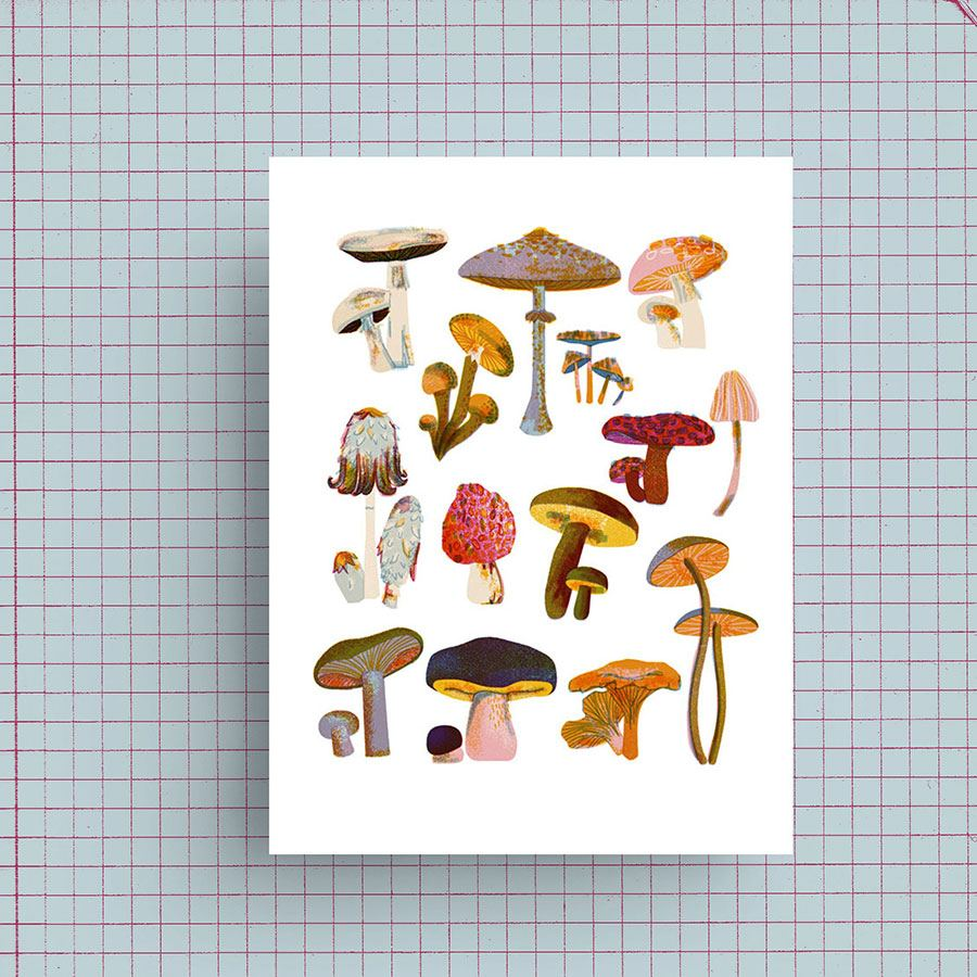 Mushrooms Print (DIN A4)