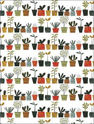 Little Plants Geschenkpapier