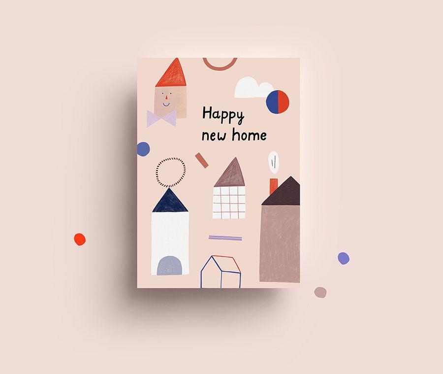 New Home Postkarte
