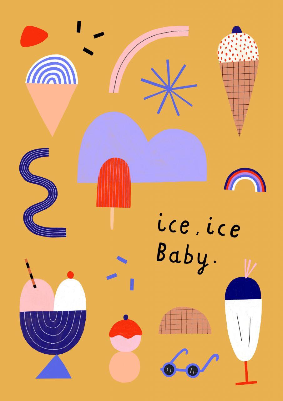 Ice Ice Baby Print (30 x 40cm)