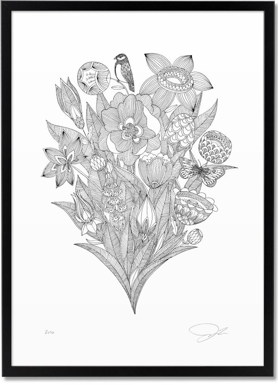 Blumen&Schmetterling Poster (Din A3)
