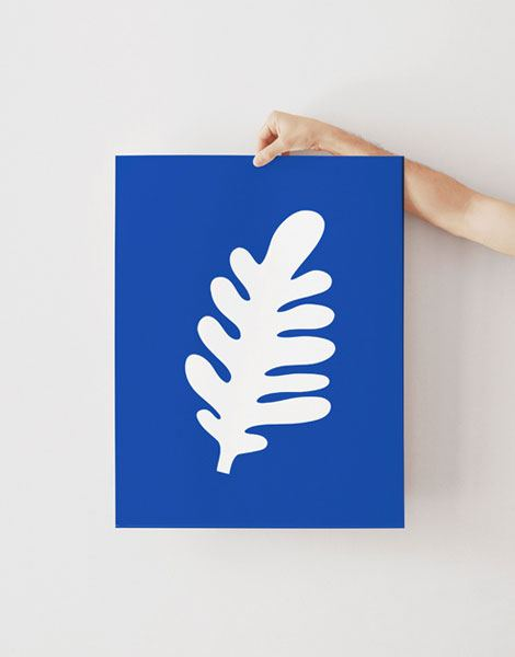 Feuille Bleu Poster (30 x 40 cm)