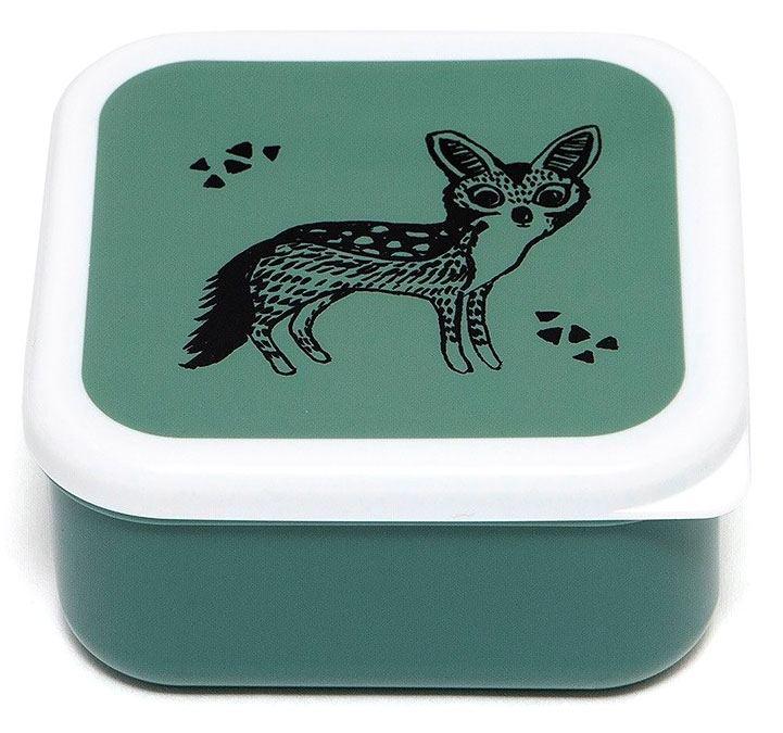Black Animals Salie Lunchbox Set (3 St.)