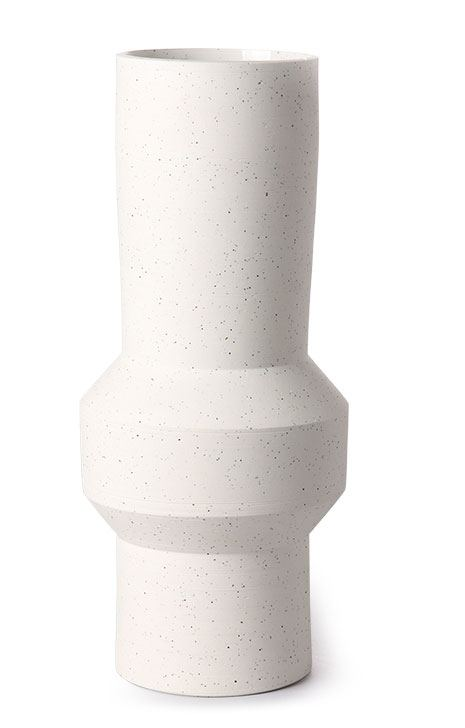 Speckled Clay Vase Straight