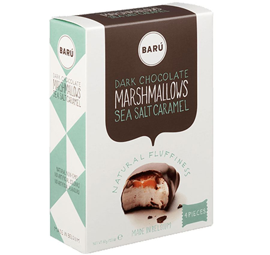 Barú Dark Chocolate & Sea Salt Caramel Marshmallows (8 Stk)