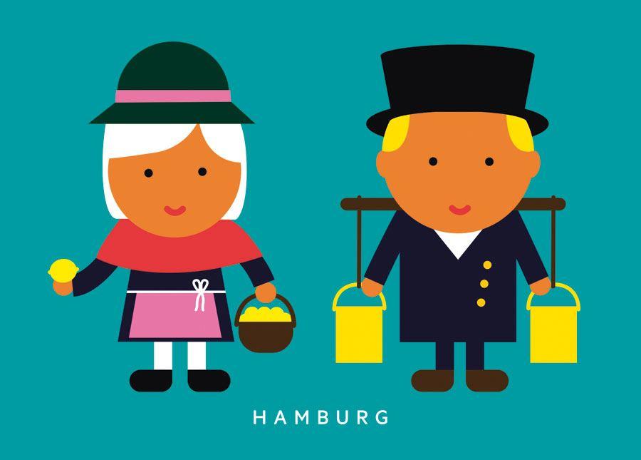 Zitronenjette Hans Hummel Postkarte