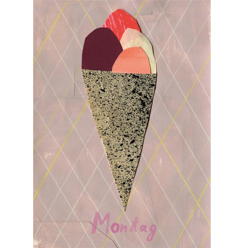 Montag Eis Postkarte