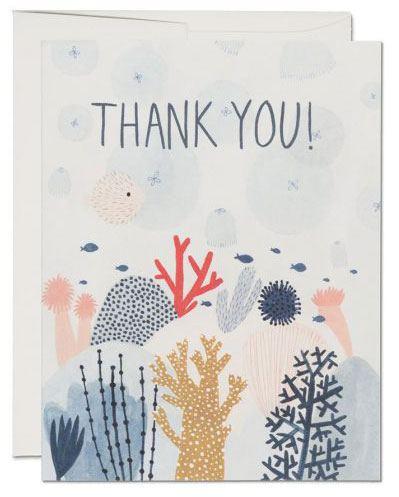 Coral Reef - Thank you Klappkarte