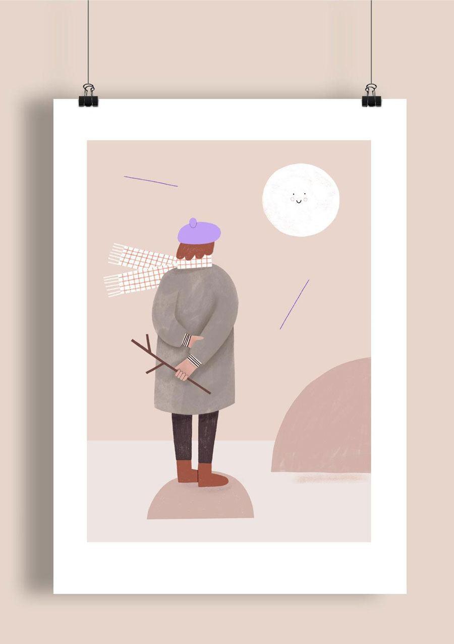 Moon Print (Din A3)