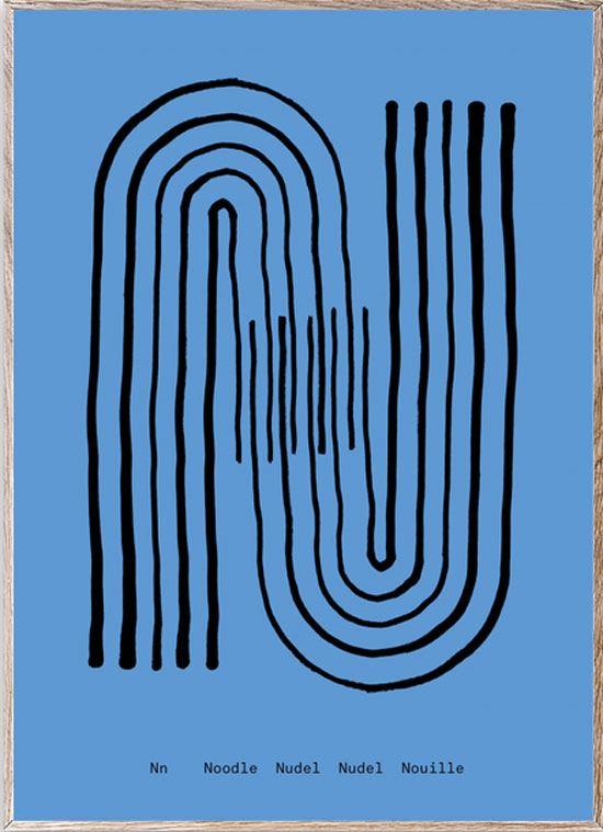 N - Alphabet Spaghetti Letter Print (Din A5)