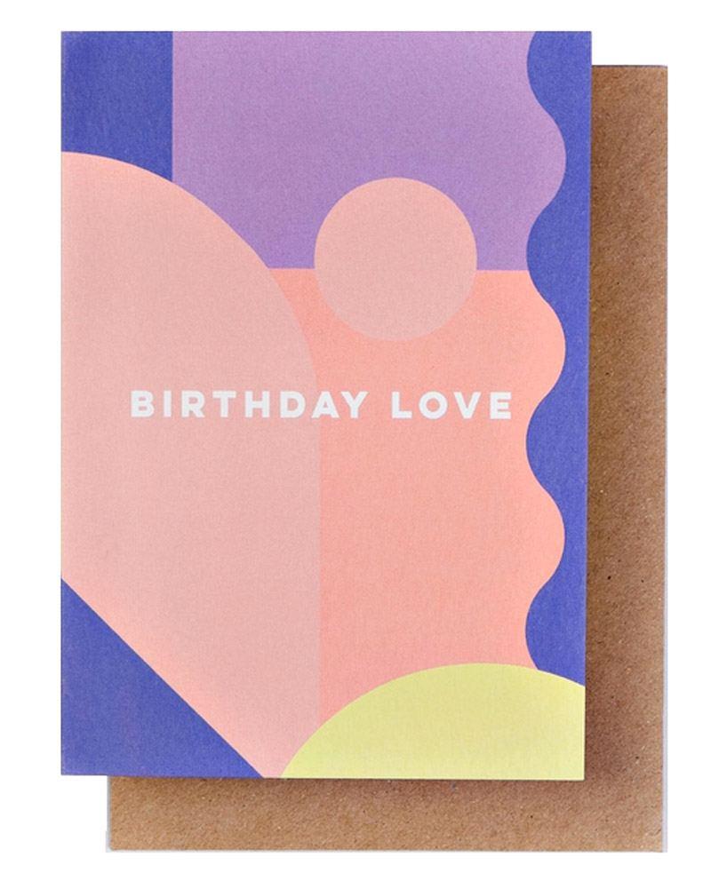 Miami Birthday Love Klappkarte