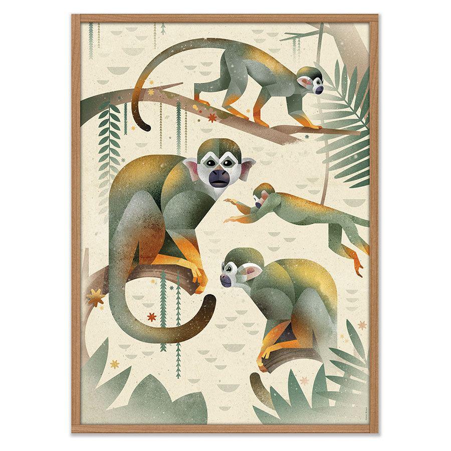 Monkeys Poster (50 x 70cm)