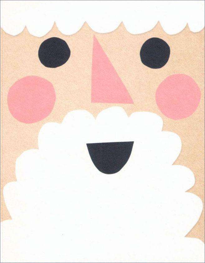 Santa Face Klappkarte