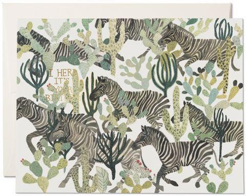 Zebra Herd Klappkarte