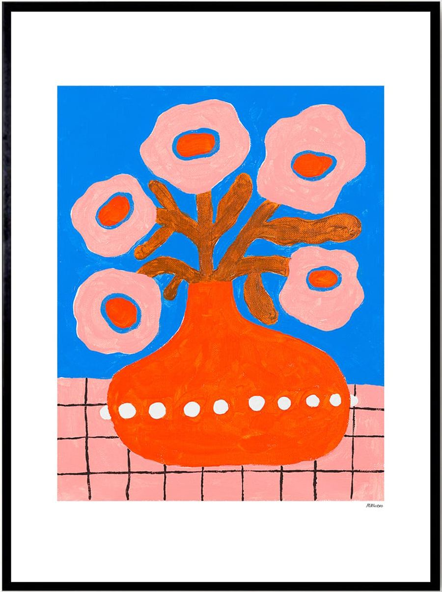 Flowers In a Pearl Vase Poster (50x70cm)