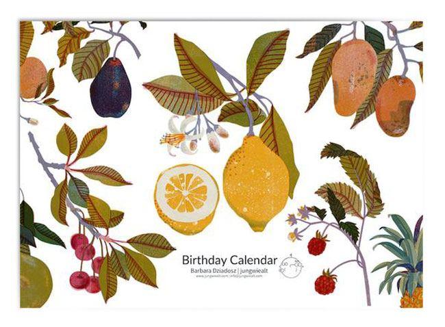 Geburtstagskalender Seasonal Fruits
