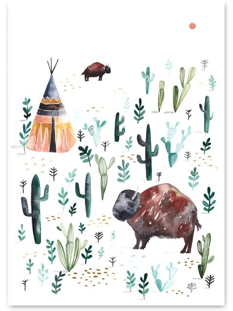Bison Poster (50 x 70 cm)