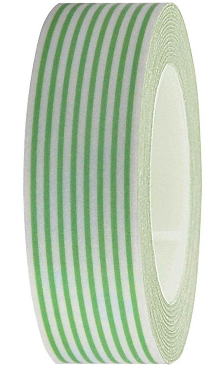 Tape Weiss-Grün-Gestreift