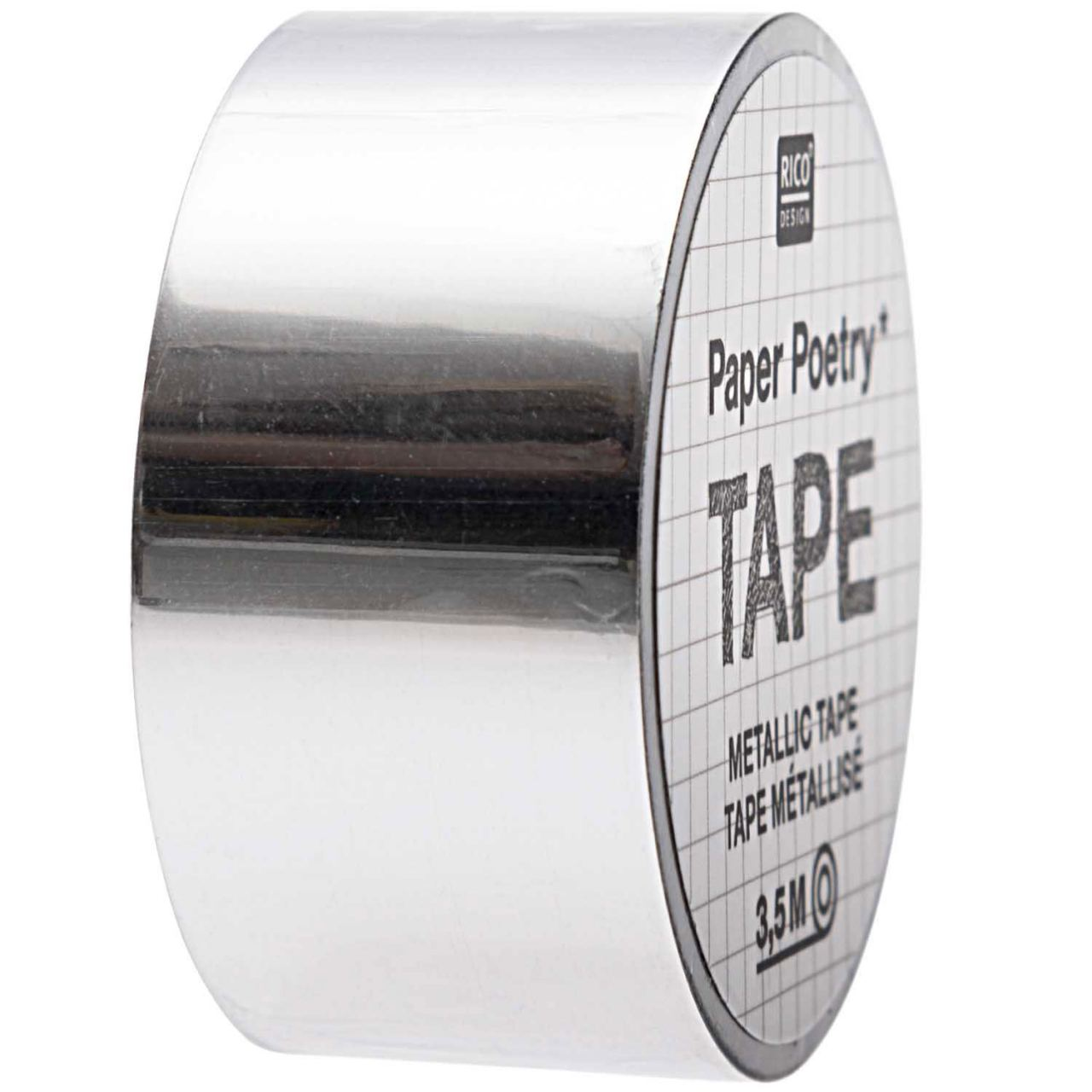 Tape Metallic Silber