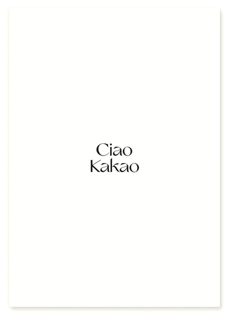 Ciao Kakao Schwarz Postkarte