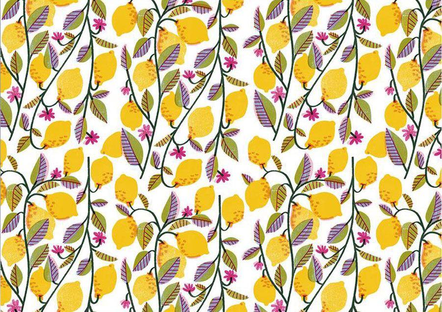 Lemons Geschenkpapier