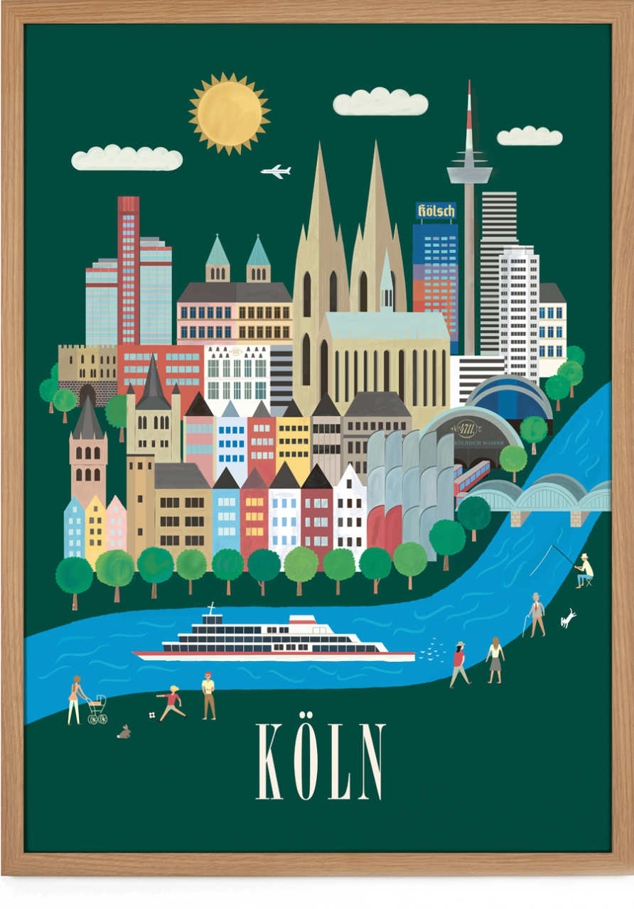 Köln Poster (50 x 70 cm)
