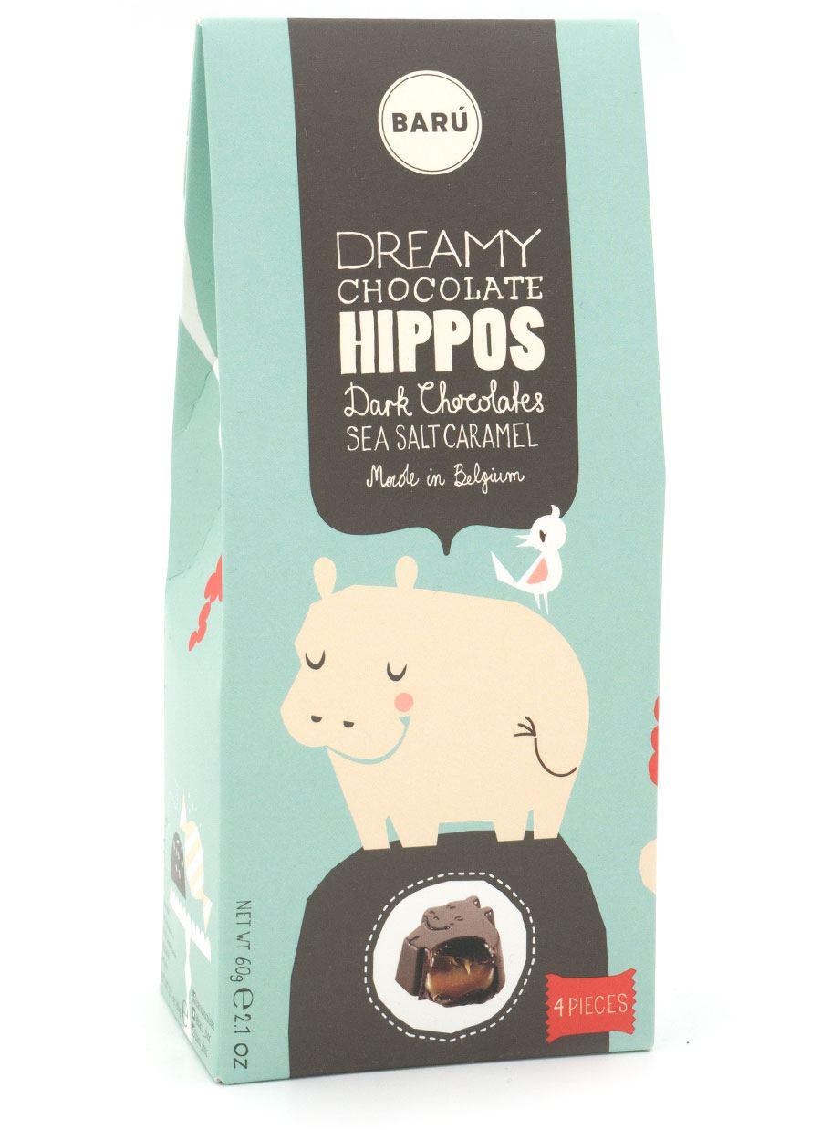 Barú Dark Chocolate Hippos Sea Salt Caramel (4St.)