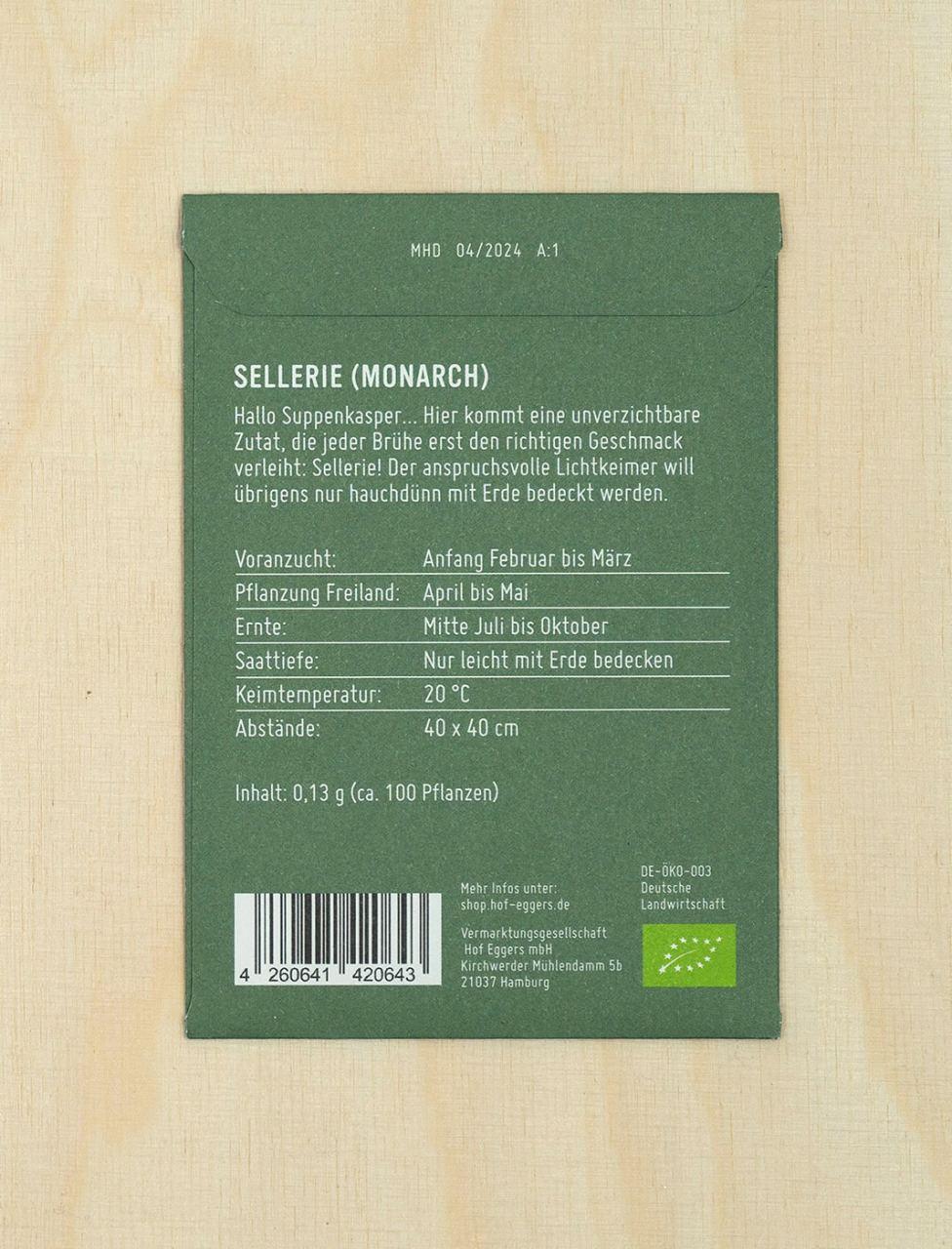 Sellerie, Bio-Saatgut