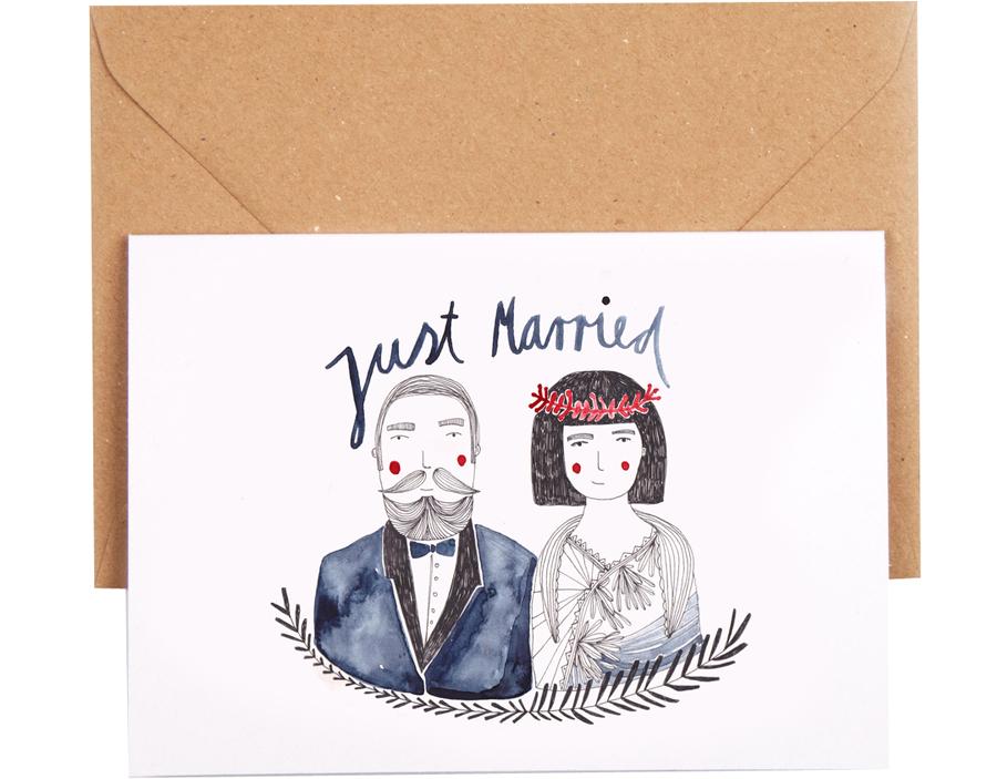 Just Married Paar Karte