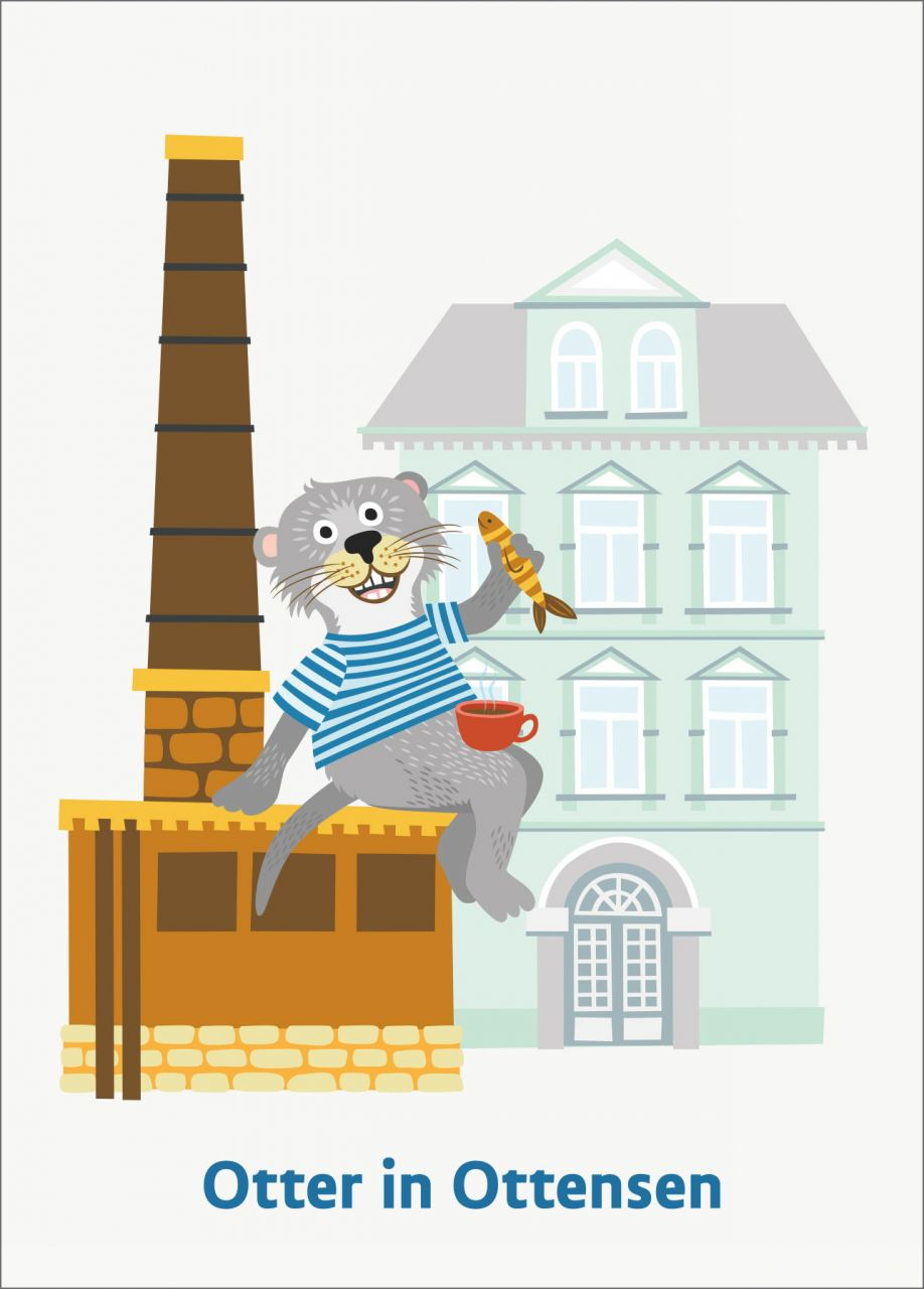 Otter in Ottensen Postkarte