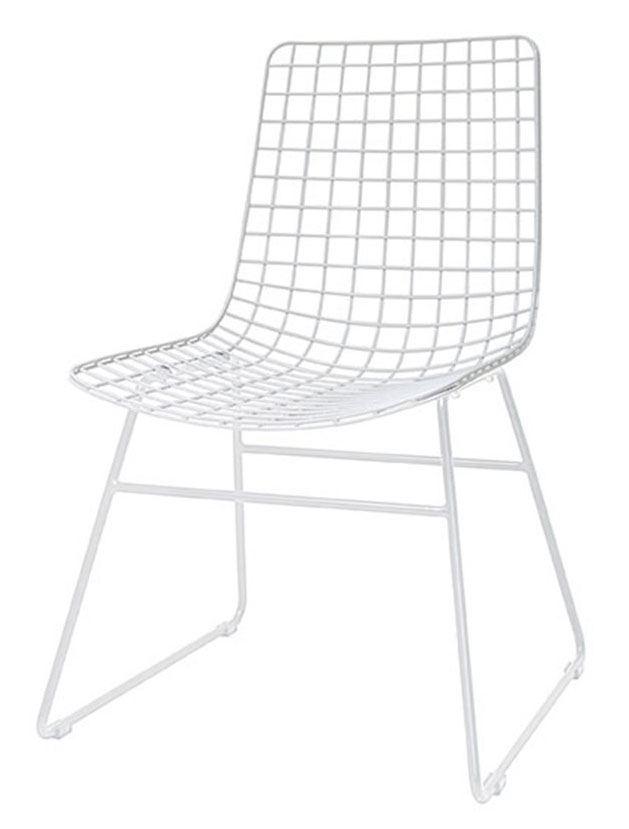 Stuhl Metalldraht Weiss