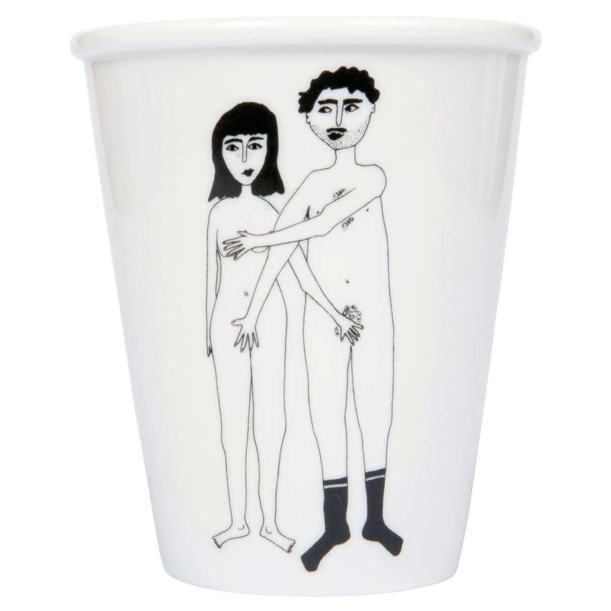 Naked Couple Becher