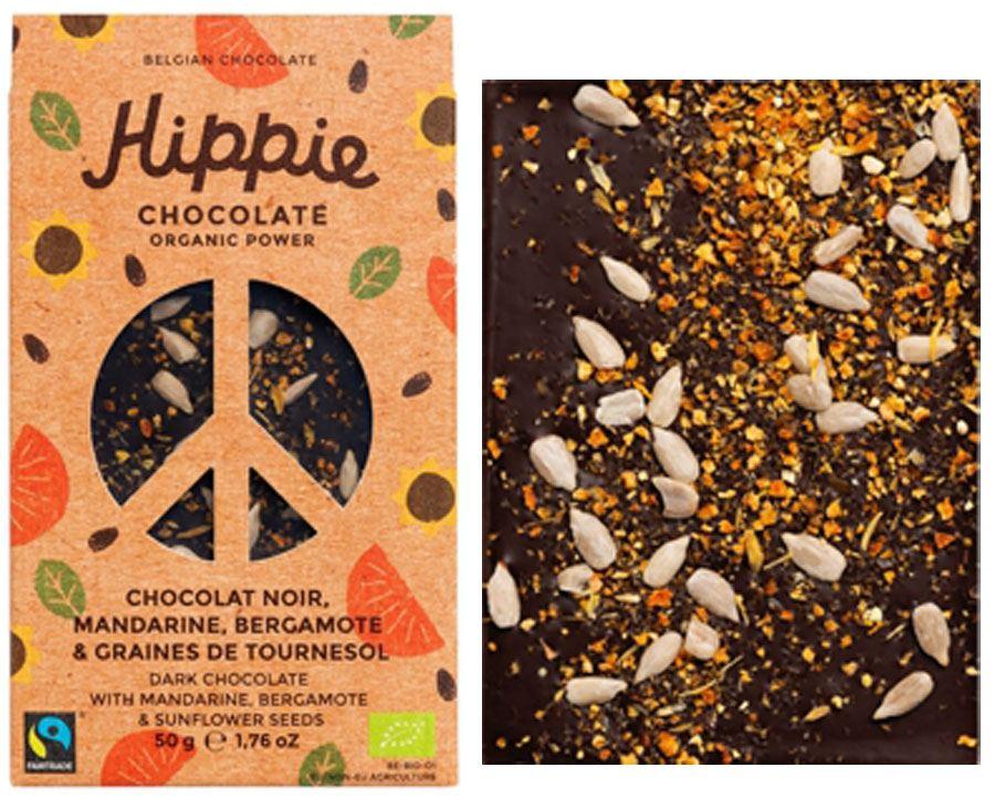 Hippie Chocolate Organic Power Dark Mandarine Bergamot Sunflower Seeds