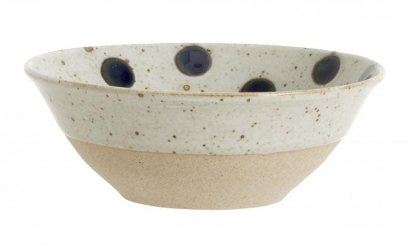 GRAINY Schale Keramik Sand / Dark Blue