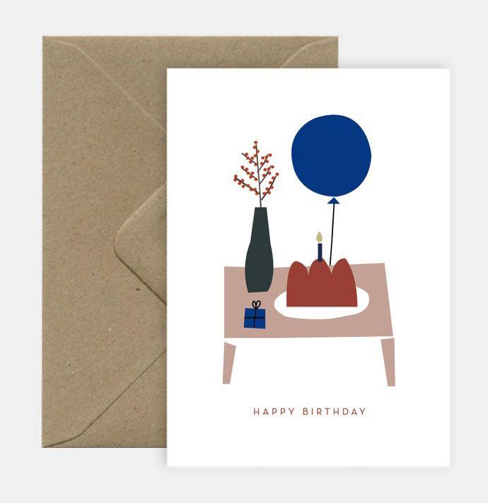 Cake & Balloon Klappkarte