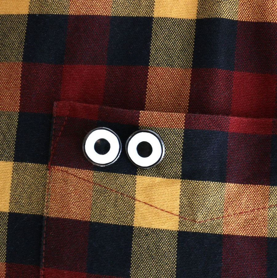 Metal Pin Ghost Eyes