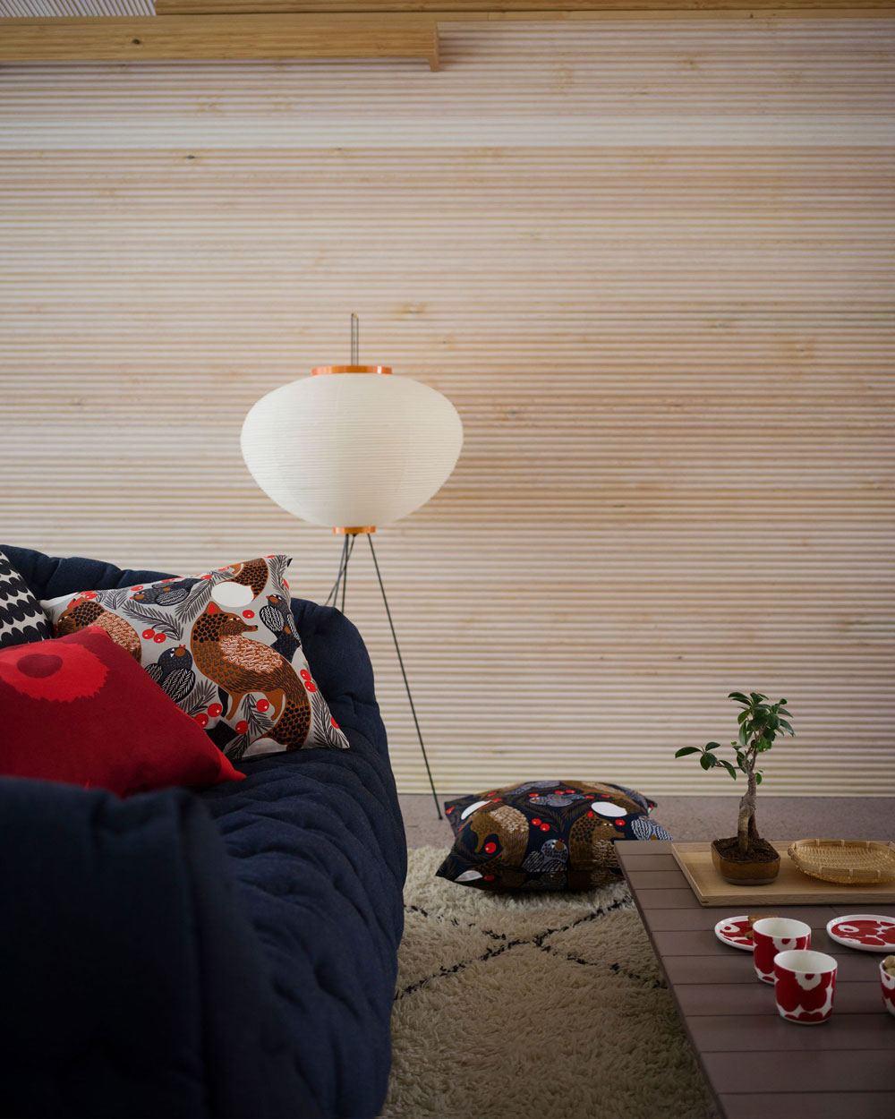 Pieni Ketunmarja Kissen Beige Brown (50x50cm)