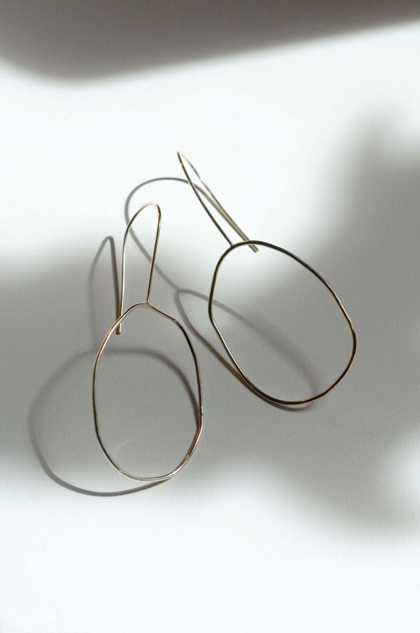 Hand Formed Oval Hoops