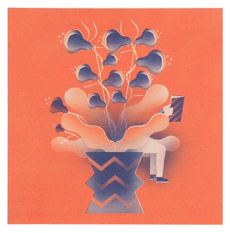 Hidden/Seek Print Orange