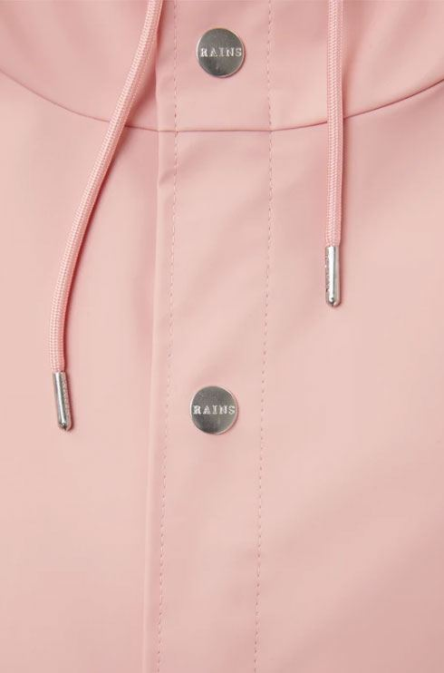 Rains Long Jacket Coral