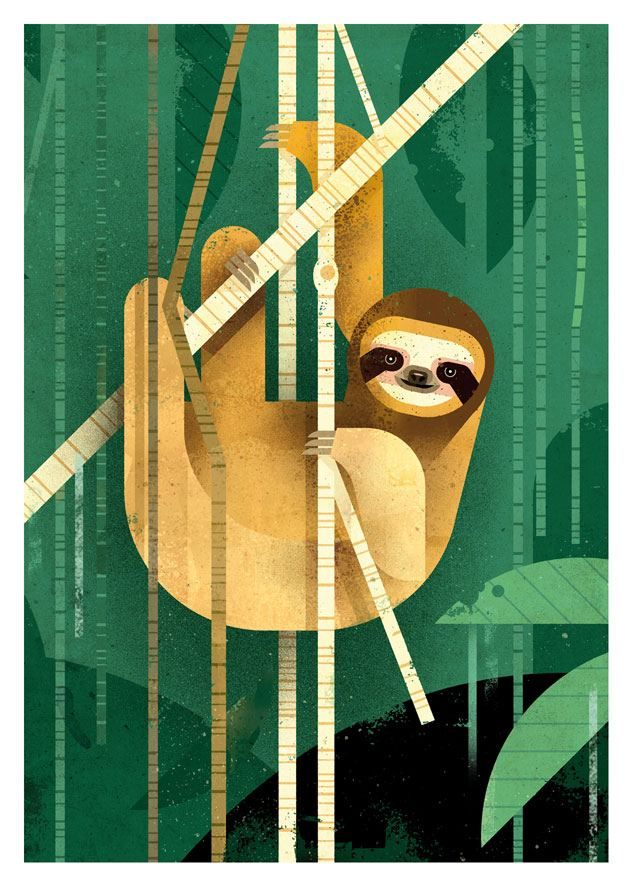 Sloth Postkarte