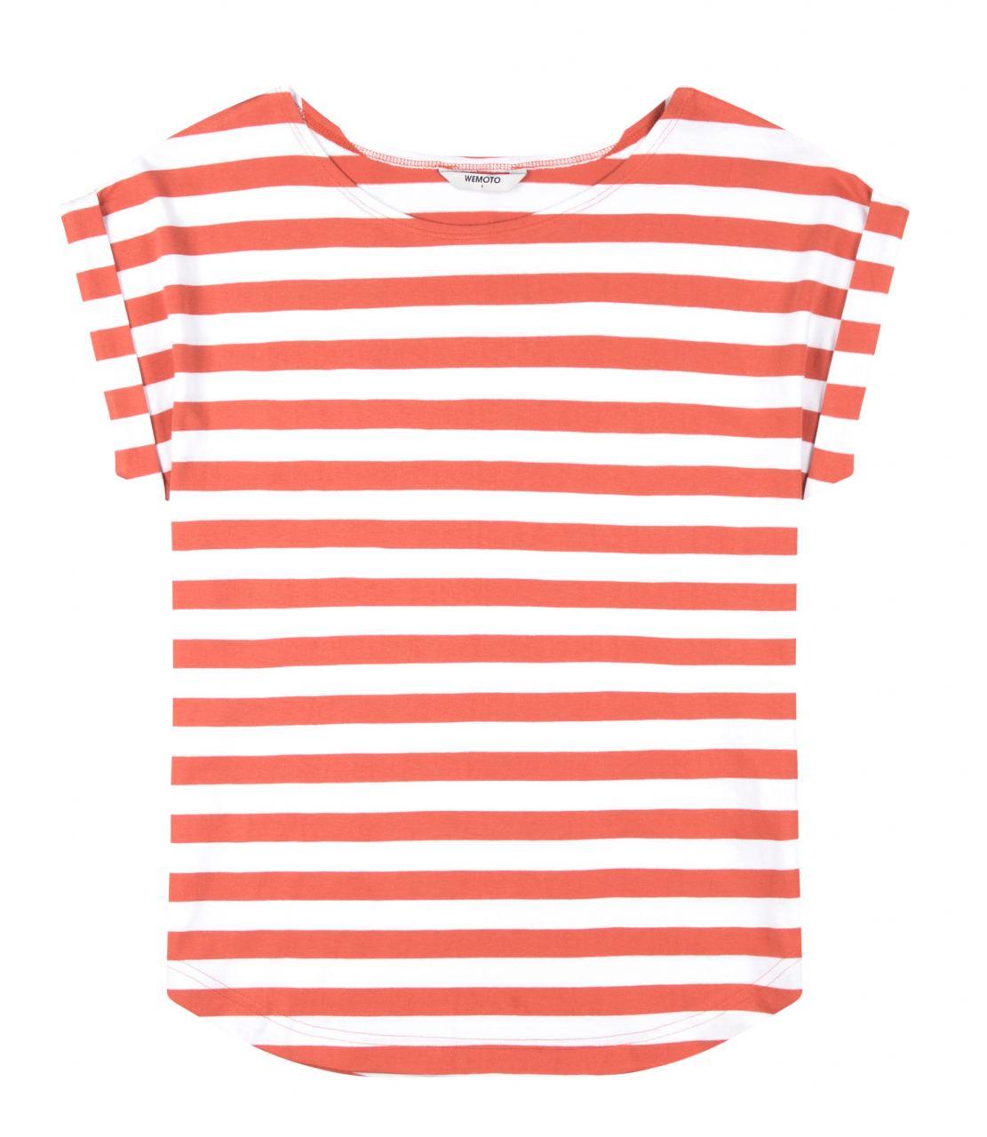 Bell Striped Shirt Emberglow White