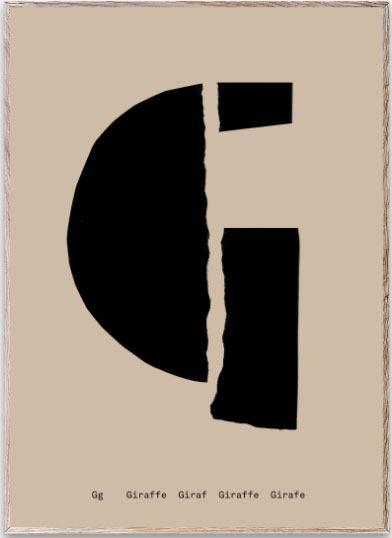 Mado Alphabet G Poster (30 x 40cm)