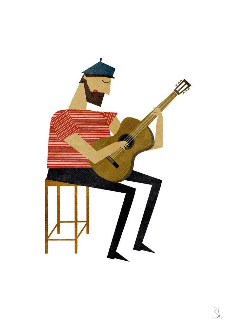 Guitarist Print (Din A4)