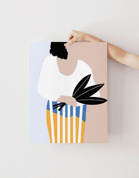 La Femme au bouquet Poster (Din A3)