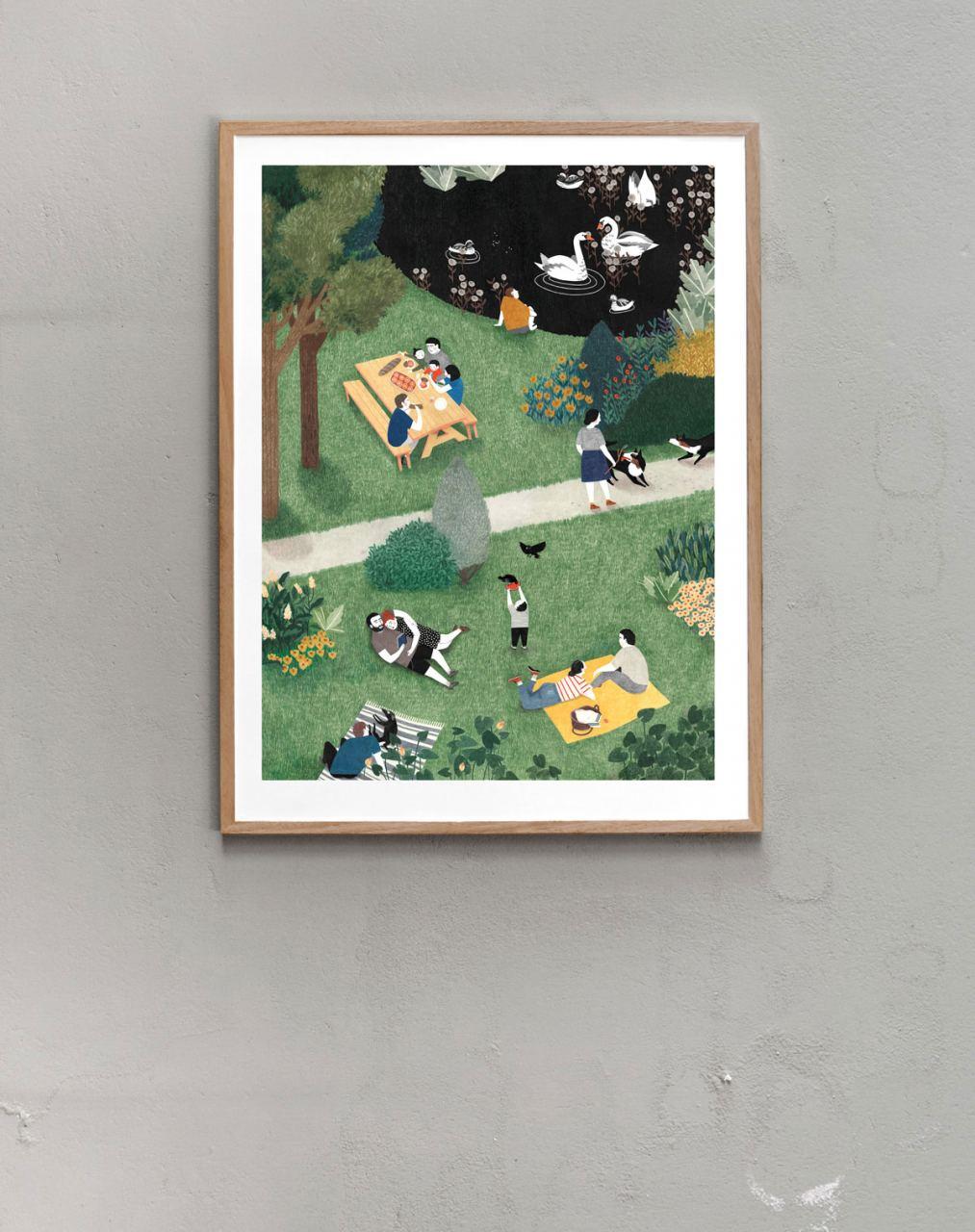 De Stadstuin Print (60x80cm)